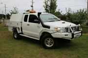 2008 Toyota Hilux KUN26R MY09 SR Xtra Cab White 5 Speed Manual Cab Chassis Officer Cardinia Area Preview