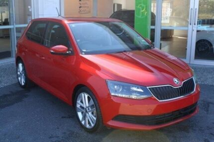 2017 Skoda Fabia NJ MY17 81TSI DSG Red 7 Speed Sports Automatic Dual Clutch Hatchback