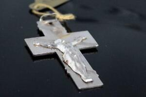 BRAND NEW ITALIAN SOLID SILVER BIG CROSS FOR SALE
