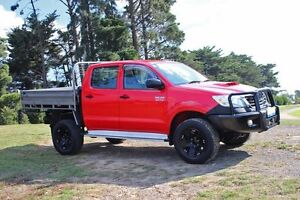 2013 Toyota Hilux KUN26R MY12 SR (4x4) Red 4 Speed Automatic Dual Cab Pick-up