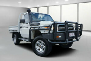 2012 Toyota Landcruiser VDJ79R 09 Upgrade GXL (4x4) French Vanilla 5 Speed Manual Cab Chassis