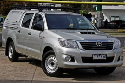 2013 Toyota Hilux KUN16R MY12 SR Double Cab Silver 5 Speed Manual Utility