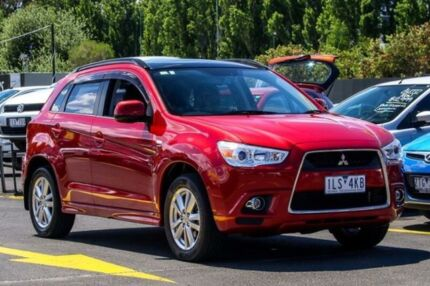 2012 Mitsubishi ASX XA MY12 Aspire Burgundy 6 Speed Constant Variable Wagon Ringwood East Maroondah Area Preview
