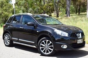 2010 Nissan Dualis J10 MY2009 Ti Hatch X-tronic Black 6 Speed Constant Variable Hatchback St Marys Mitcham Area Preview