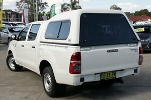 2014 Toyota Hilux GGN15R MY12 SR Glacier White 5 Speed Automatic Dual Cab Pick-up Old Guildford Fairfield Area Preview