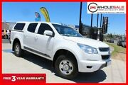 2012 Holden Colorado RG MY13 LX Utility Crew Cab 4dr Spts Auto 6sp 1186kg 2.8DT White Minchinbury Blacktown Area Preview