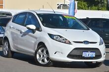 2010 Ford Fiesta WS LX White 4 Speed Automatic Hatchback Maylands Bayswater Area Preview