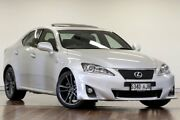 2010 Lexus IS250 GSE20R MY11 F Sport Silver Metallic 6 Speed Sports Automatic Sedan Adelaide CBD Adelaide City Preview