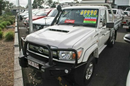 2017 Toyota Landcruiser VDJ79R GXL White 5 Speed Manual Cab Chassis Monkland Gympie Area Preview