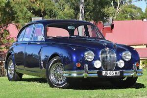 1963 Jaguar Mark II Deep Blue Pearlescent 5 Speed Manual Sedan St James Victoria Park Area Preview