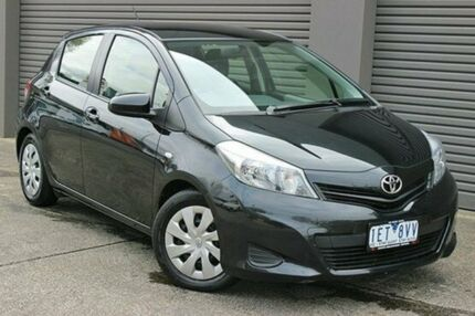 2013 Toyota Yaris NCP131R YRS Black 4 Speed Automatic Hatchback South Melbourne Port Phillip Preview