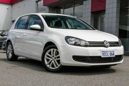2012 Volkswagen Golf VI MY13 118TSI DSG Comfortline White 7 Speed Sports Automatic Dual Clutch Myaree Melville Area Preview