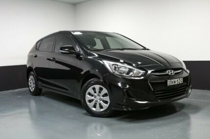 2015 Hyundai Accent RB3 MY16 Active Black 6 Speed Constant Variable Hatchback Hamilton East Newcastle Area Preview