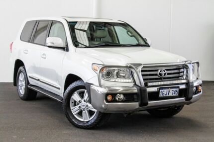 2012 Toyota Landcruiser VDJ200R MY12 Sahara Crystal Pearl 6 Speed Sports Automatic Wagon Rockingham Rockingham Area Preview