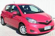 2012 Toyota Yaris NCP130R YR Pink 4 Speed Automatic Hatchback Embleton Bayswater Area Preview