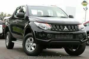 2016 Mitsubishi Triton MQ MY16 GLX+ Double Cab Black 6 Speed Manual Utility Springwood Logan Area Preview