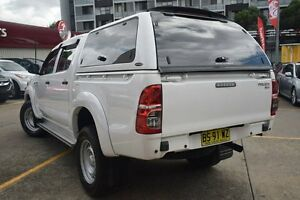 2013 Toyota Hilux KUN26R MY12 SR (4x4) White 4 Speed Automatic Dual Cab Pick-up Homebush Strathfield Area Preview