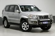 2004 Toyota Landcruiser Prado KZJ120R GXL (4x4) Silver 5 Speed Manual Wagon Bentley Canning Area Preview
