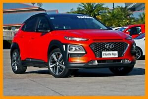 2017 Hyundai Kona OS MY18 Highlander 2WD Orange 6 Speed Sports Automatic Wagon Hillcrest Logan Area Preview