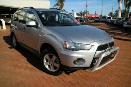2010 Mitsubishi Outlander ZH MY11 LS 2WD Silver 6 Speed Constant Variable Wagon