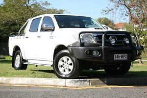 2010 Toyota Hilux KUN26R MY10 SR5 White 4 Speed Automatic Utility Yeerongpilly Brisbane South West Preview