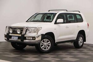 2007 Toyota Landcruiser VDJ200R VX White 6 Speed Sports Automatic Wagon Edgewater Joondalup Area Preview