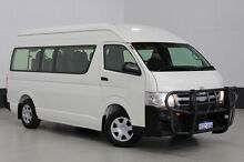 2013 Toyota Hiace KDH223R MY12 Upgrade Commuter White 5 Speed Manual Bus Bentley Canning Area Preview