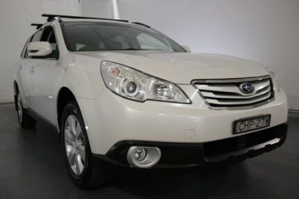 2011 Subaru Outback B5A MY12 2.5i Lineartronic AWD White 6 Speed Constant Variable Wagon Maryville Newcastle Area Preview