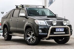 2013 Toyota Hilux KUN26R MY12 SR5 Double Cab Black 4 Speed Automatic Utility Bellevue Swan Area Preview