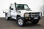 2013 Toyota Landcruiser VDJ79R MY13 GXL Double Cab Silver Pearl 5 Speed Manual Cab Chassis Myaree Melville Area Preview
