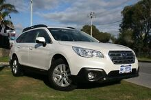 2016 Subaru Outback B6A MY16 2.0D CVT AWD White 6 Speed Constant Variable Wagon Silver Sands Mandurah Area Preview