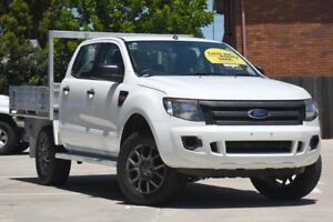 2014 Ford Ranger PX XL Double Cab 4x2 Hi-Rider White 6 Speed Sports Automatic Utility Toowoomba Toowoomba City Preview
