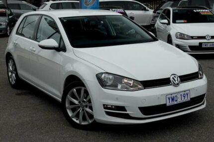 2013 Volkswagen Golf VII 110TDI DSG Highline Pure White 6 Speed Sports Automatic Dual Clutch