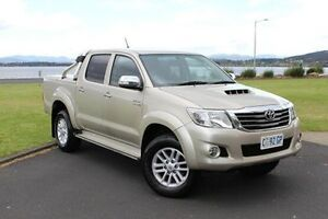 2012 Toyota Hilux KUN26R MY12 SR5 Double Cab Gold 4 Speed Automatic Utility Invermay Launceston Area Preview