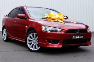 2008 Mitsubishi Lancer CJ MY08 VR-X Red 5 Speed Manual Sedan Kings Park Blacktown Area Preview