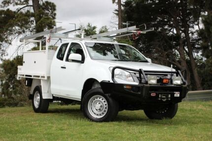 2013 Isuzu D-MAX MY12 SX Space Cab White 5 Speed Manual Cab Chassis Officer Cardinia Area Preview