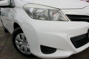 2012 Toyota Yaris NCP130R YR White 5 Speed Manual Hatchback