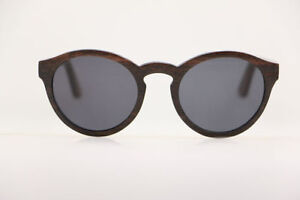 Handcrafted wood sunglasses, made in Canada