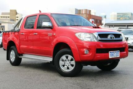 2009 Toyota Hilux KUN26R MY09 SR5 Velocity Red 5 Speed Manual Utility