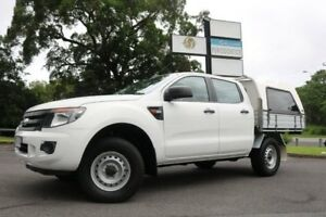 2014 Ford Ranger PX XL Double Cab White 6 Speed Sports Automatic Cab Chassis Earlville Cairns City Preview