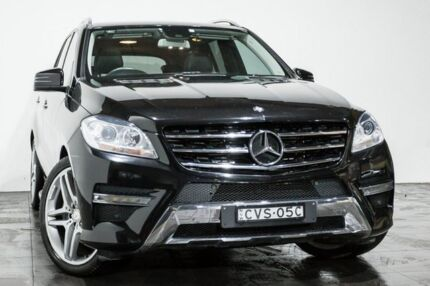 2014 Mercedes-Benz ML250 W166 MY805 BlueTEC 7G-Tronic + Black 7 Speed Sports Automatic Wagon
