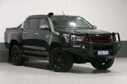 2017 Toyota Hilux GUN126R SR5 (4x4) Black 6 Speed Automatic Dual Cab Utility Bentley Canning Area Preview