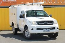 2011 Toyota Hilux KUN26R MY10 SR Arctic White 5 Speed Manual Cab Chassis Heatherton Kingston Area Preview