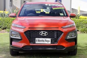 2018 Hyundai Kona OS MY18 Active D-CT AWD Orange 7 Speed Sports Automatic Dual Clutch Wagon