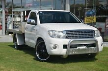 2009 Toyota Hilux TGN16R MY10 Workmate White 5 Speed Manual Cab Chassis Valley View Salisbury Area Preview