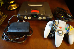 Nintendo 64 console + expansion pak + controller - Tested