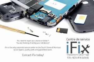Cellphone Repair / Reparation Cellulaire IPHONE SAMSUNG LG SONY