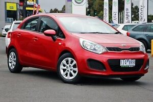 2013 Kia Rio UB MY13 S Red 6 Speed Manual Hatchback Nunawading Whitehorse Area Preview