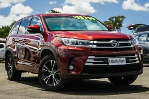 2017 Toyota Kluger GSU55R GX AWD Red 8 Speed Sports Automatic Wagon