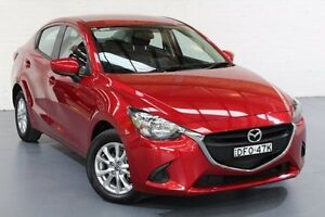 2016 Mazda 2 DL2SAA Maxx SKYACTIV-Drive Red 6 Speed Sports Automatic Sedan Cardiff Lake Macquarie Area Preview